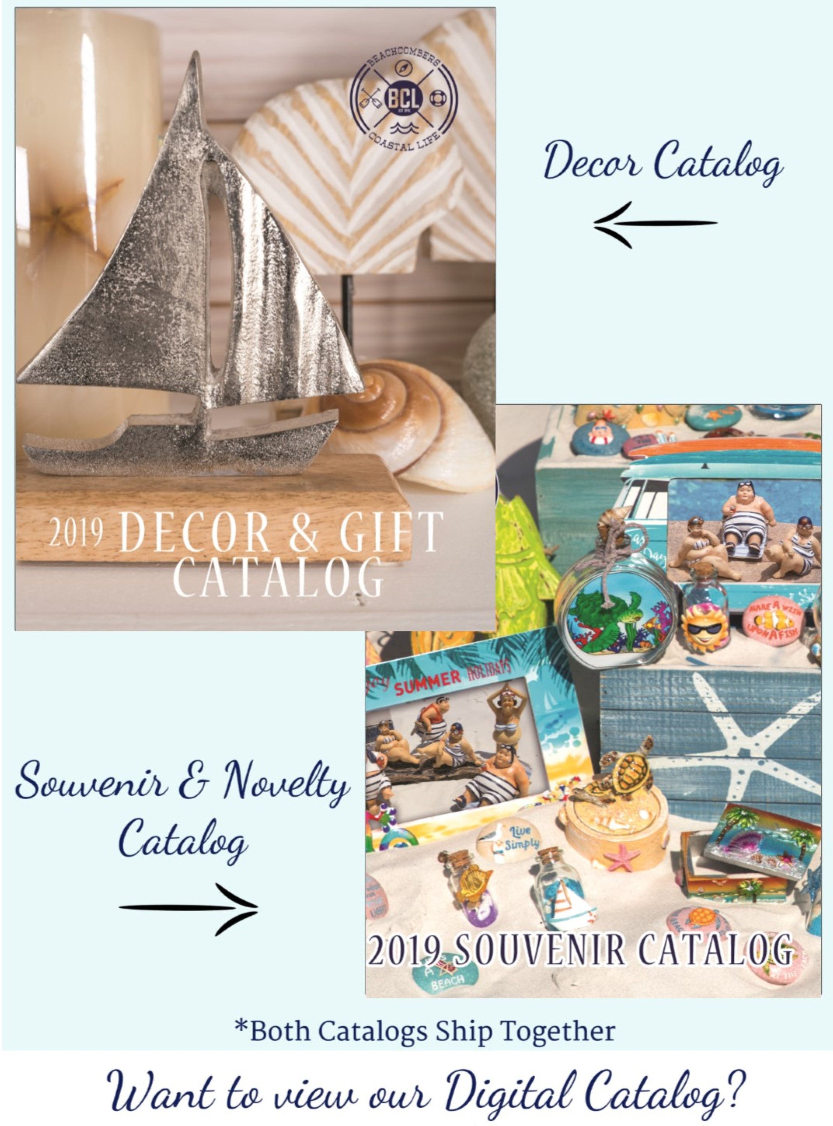 Novelty Gift Catalogs >> Request A Catalog Beachcombers Coastal Life