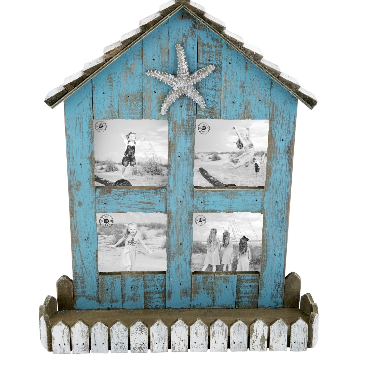 Teal House 3x3 Frame | Beachcombers Coastal Life
