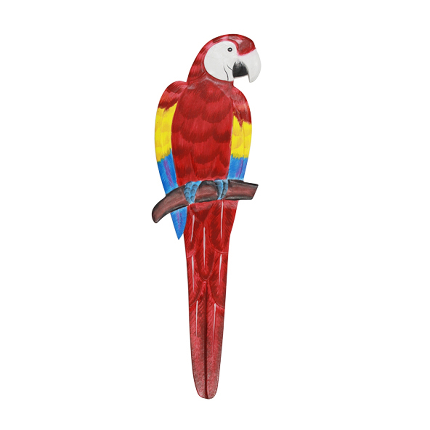 Wood Red Parrot Wall Decor