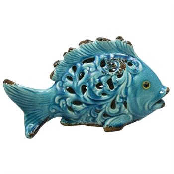 Ceramic Fish With LED Light
