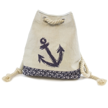 Beachcombers Navy Anchor Green Cotton Tote Bag Apparel Accessories